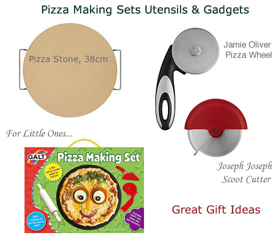 pizza making gift sets stones cutter utensils