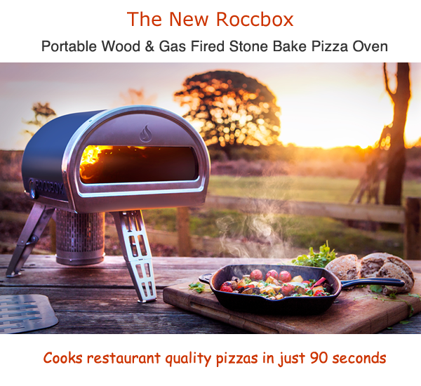 roccbox portable stone bake outdoor pizza oven