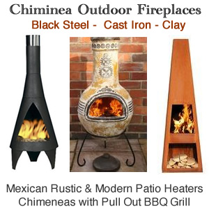 Chimineas Outdoor Fireplace Heater