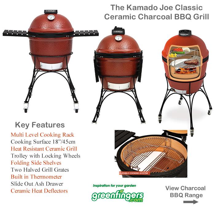 Kamado Joe Classic Ceramic Charcoal BBQ Grill