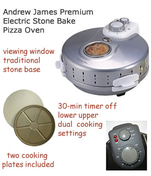 Andrew James electric stone bake indoor pizza oven