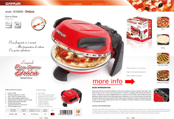 g3 ferrari pizza oven instructions