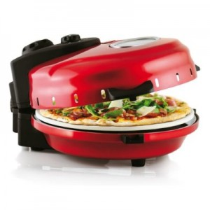 red table top portable pizza oven